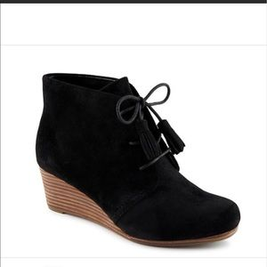 Dr. Scholl's faux suede wedge booties. Size 7.5